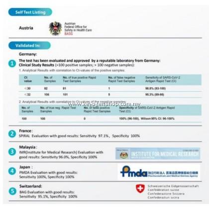 Free Delivery (MDA  approved) ALLTEST COVID19 Antigen Rapid Test home test kit