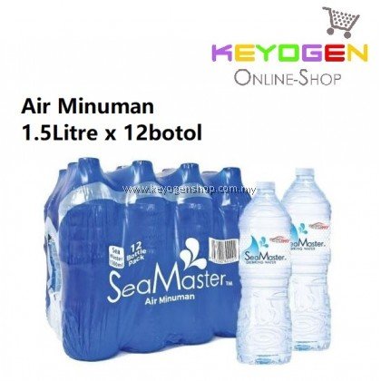 (SELF PICK UP ONLY) Malaysia Sea Master 1.5 Litre / 12 Bottles (Drinking Water)