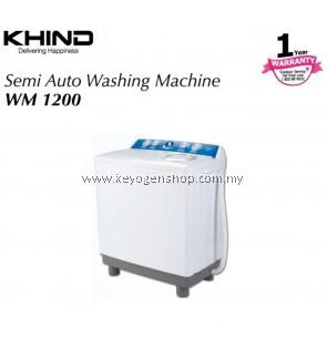 New Khind WM1200 semi auto washing machine - 12kg wash capasity