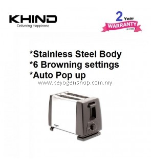 Khind BT802 stainless steel Bread toaster with 6 browning - 2 yr wrty
