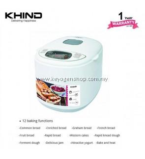 KHIND Bread Maker Model BM500 - 12 baking function - energy save