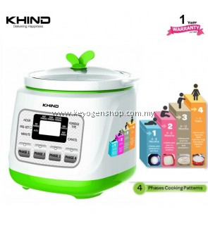 KHIND BP12 BABY PORRIDGE COOKER - 1 year warranty - 4 cooking pattern