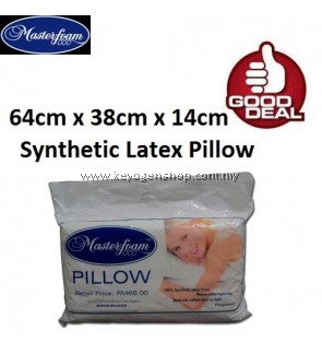 Great Deal ! Masterfoam Synthetic Latex Foam Pillow - Non-allergenic