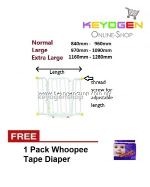 ( flash sale ) FREE DELIVERY Promosi Hebat! baby gate / kid safety gate pagar FREE 1 Pack Whoopee Tape Diaper #mycybersale