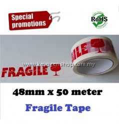 Fragile sticker tape promotion ( 1 roll to 20 rolls) over 230 words