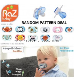 Free Shipping USA awarded brand RAZBABY BPA Free silicon pacifier - Auto Close