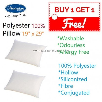 Free Shipping Buy 1 Free 1 Masterfoam Polyester Hollow Siliconized Fibre Pillow #MYCYBERSALE