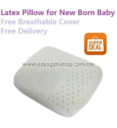Free shipping 100% NATURAL latex MOULDED new born baby pillow - avoid Flat Head syndrome