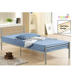 Free Shipping Single Steel Metal Bed premium wood slats bed base #MYCYBERSALE