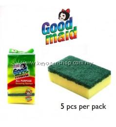 Goodmaid 5pcs Kitchen Dishwashing Scouring Washing Cleaning Sponge Pad