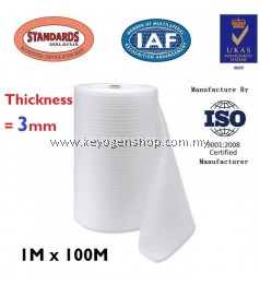 PE FOAM Thickness 3MM X 1M X 100M fragile protection packaging