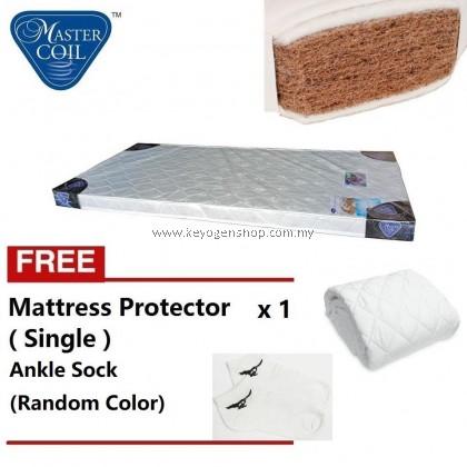 Mastercoil Coconut Fibre Single mattress -FOC mattress protector FOC Sock