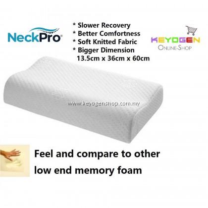 NeckPro Memory Foam Contour Pillow - premium grade - 1 year warranty