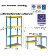 Free Shipping Sirim Certified 350x750x1530mm home office Storage Boltless Rack #MYCYBERSALE