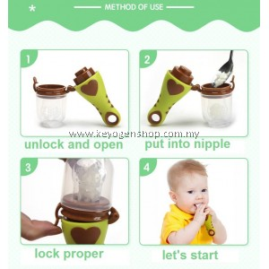 Free shipping Baby infant fruit Pacifier 2 in 1 training teether green, blue, pink #MYCYBERSALE