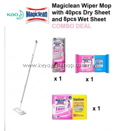 Magiclean Wiper Set + Refill 40's dry + 8's wet cleaning sheet combo