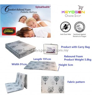Goodnite Spinahealth Rebond Foam Foldable Mattress with carry bag #MYCYBERSALE