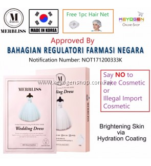 MERBLISS Wedding Dress Intense Hydration Coating Pearl Nude Seal Mask (5 Sheets) FREE 1pc Hair Net #MYCYBERSALE