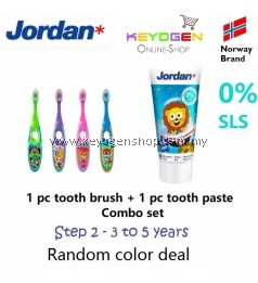 FREE DELIVERY Jordan Step 2 Toothbrush 0-2 Years COMBO Toothpaste #MYCYBERSALE