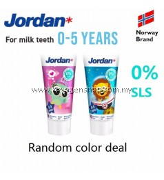 (NORWAY BRAND) Jordan Kids Toothpaste 0-5 years for milk teeth