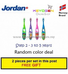 ( Norway brand ) 2 pcs Jordan Step 2 kid Toothbrush 3-5 Years BPA Free