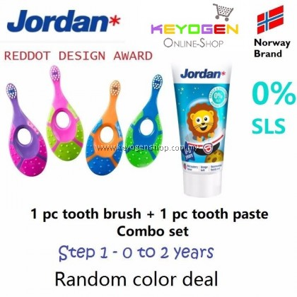 (FREE SHIPPING) Jordan Step 1 Toothbrush 0-2 Years COMBO Toothpaste