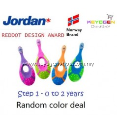 (Norway brand) Jordan Step 1 Baby soft Toothbrush 0-2 Years BPA Free