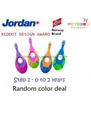 (Norway brand) Jordan Step 1 Baby soft Toothbrush 0-2 Years BPA Free