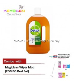 FREE SHIPPING Keyogen 1unit Dettol Antiseptic 750ml COMBO Magiclean Wiper Set