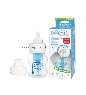 FREE SHIPPING Baby Bottles Dr Brown's 4oz / 120ml PP WIDE NECK - Natural Flow #MYCYBERSALE
