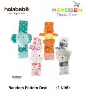 ( flash sale )Holabebe Baby Wrist Rattles Hand A516 (Random Pattern Deal)