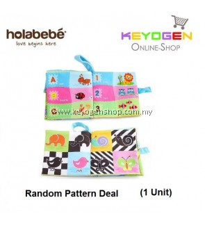 ( flash sale )Holabebe Baby Soft Book Cloth Book T334 (Random Pattern Deal)