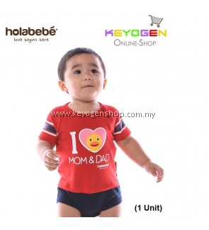 ( flash sale )Holabebe Baby Romper I Love Mom & Dad R583