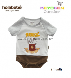 ( flash sale )Holabebe Baby Romper I Love Mum Bearly Much R612