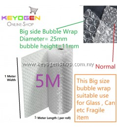 Big air bubble wrap diameter 25mm height 11mm Length 1 meter x 5 Meter (food grade) for fragile concern item like glass