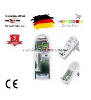 Ansmann Basic 2 plus Plug-in charger set- GERMAN TECHNOLOGY (5107563)- 3 Years Warranty