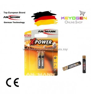 Ansmann X-Power Alkaline Battery AAAA / LR08 (2 pcs)-GERMAN TECHNOLOGY (1510-0005)