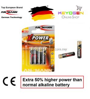 Ansmann X-Power Alkaline Battery AAA / LR03 (4 pcs) GERMAN TECHNOLOGY (5015653)