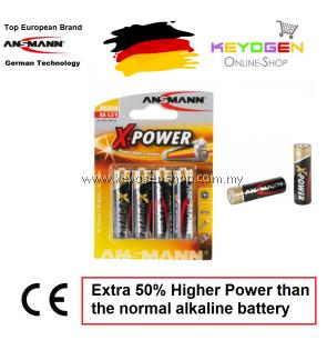 Ansmann X-Power Alkaline Battery AA / LR6 (4 pcs) GERMAN TECHNOLOGY (5015663)