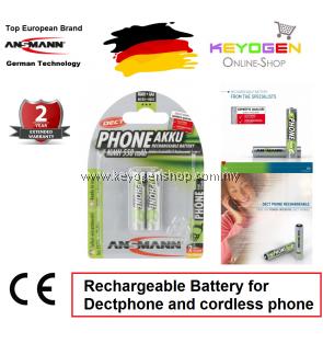 Ansmann NiMH Rechargeable battery AAA / HR03 550 mAh maxE (2 pcs) (5035523) - GERMAN TECHNOLOGY- 2 years Warranty