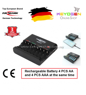 Ansmann Powerline 8 Charger -GERMAN TECHNOLOGY- 3 Year Warranty (1001-0006)