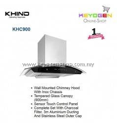 KHIND Cooker Hood KHC900 - Tempered Glass Canopy