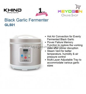 KHIND Black Garlic Fermenter GL501 Hot Air Convection for Black Garlic