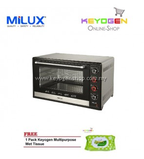 ( launching sale )MILUX Stainless Steel Electric Oven MOT-DS150 FREE 1 Pack Keyogen Multipurpose wet Tissue 80pcs per pack