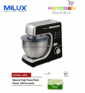MILUX Multi-Function Planetary Stand Mixer MSM-1000 COMBO Natural Pulp Travel 1 Pack Tissue