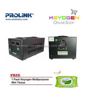 PROLiNK PVS10001CD 10KVA Precision Full-Automatic Voltage Regulator FREE 1 Pack Keyogen Multipurpose wet Tissue 80pcs per pack