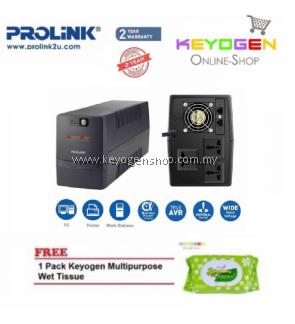 PROLiNK PRO2000SFC 2000VA Super-Fast Charging UPS with AVR FREE 1 Pack Keyogen Multipurpose wet Tissue
