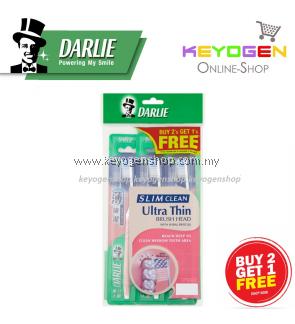 Darlie Toothbrush Slim Clean Ultra Thin Brush Head with Spiral Bristles BUY 2 FREE 1