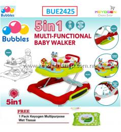 Bubbles 5 in 1 Baby Learn2Walk Walker Carnival Multi Functional walker FREE 1 Pack Keyogen Multipurpose wet Tissue 80pcs per pack