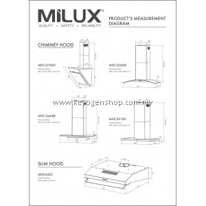 Milux Stainless Steel Cooker Hood MHS-S430- 1 Year Warranty Free Mystery Gift